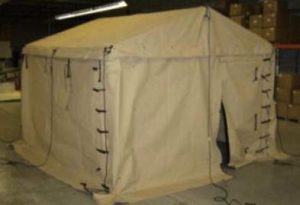 Figure 7: A full-size tent delivered to Tyndel Air Force Base.
